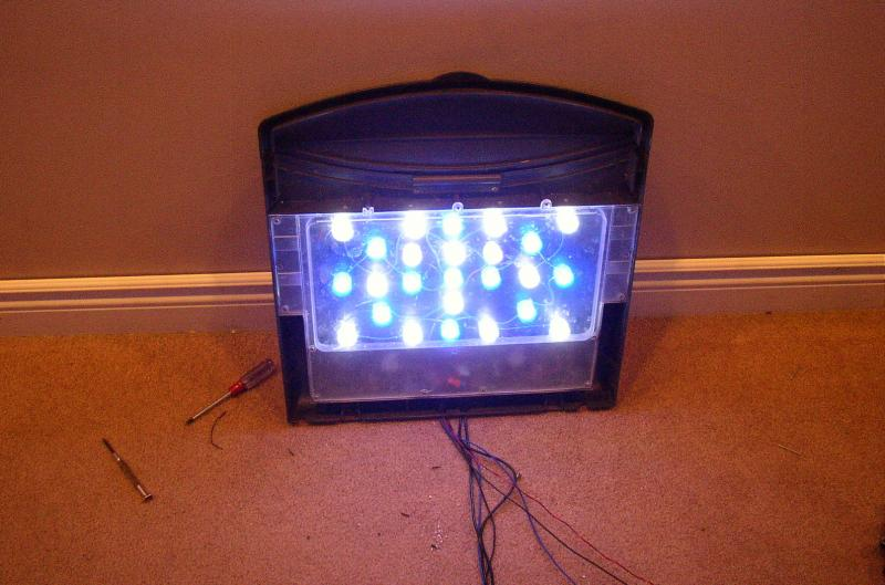 Coral Reef Aquarium - DIY Projects & Plans - DIY LED project.  24 x 3w and 40 x 3w