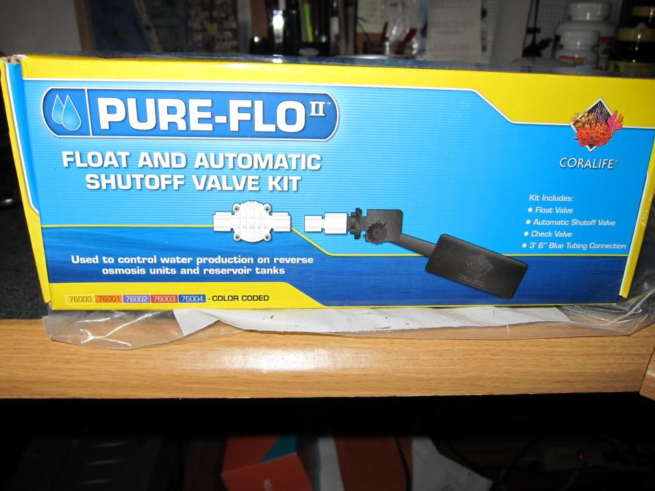 Coral Reef Aquarium - Equipment Sales & Trades - Float and Automatic Shutoff Valve for R/O unit
