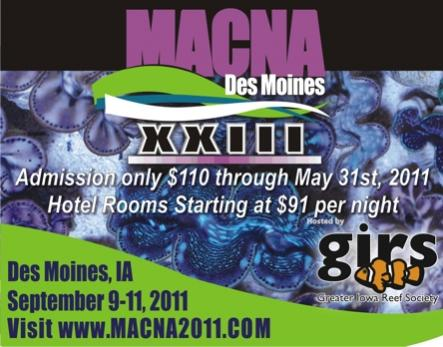Coral Reef Aquarium - Reefing Events - Register for MACNA 2011 before May 31st and Save!