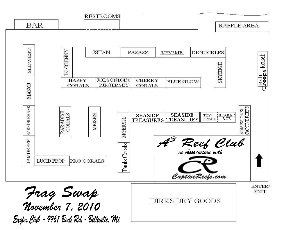 CRswaplayout - Captive Reefs/ A2 Area Reefers 3rd annual Frag Swap!!!! Belleville,MI